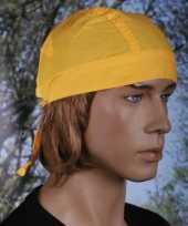 Feest gele hoofddoek uni 1