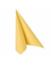 Feest gele papieren zakdoek 33 x 33 cm