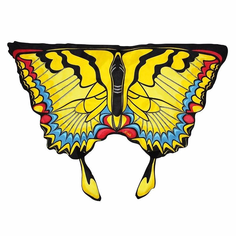 Feest gele zwaluwstaartvlinder vleugels voor kids