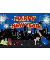 Feest gelukkig nieuwjaar vlag 10051897