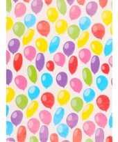 Feest geschenkpapier gekleurd ballonnen 70 x 200 cm