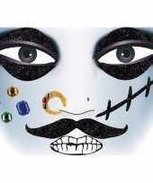 Feest gezicht stickers piraat 1 vel