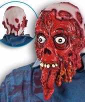 Feest ghoulish bloederig horror latex masker voor volwassenen