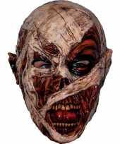 Feest ghoulish mummie latex masker voor volwassenen