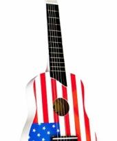Feest gitaar met vlag van amerika