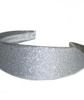 Feest glamour en glitter diadeem zilver