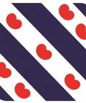 Feest glas viltjes met friese vlag vlag 15 st