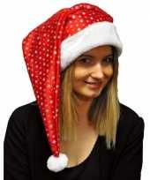Feest glitter kerstmuts met pailletten