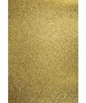 Feest glitterend goud hobby karton a4