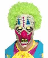 Feest glow in the dark clowns masker