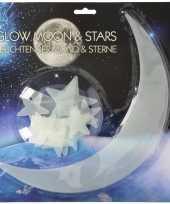 Feest glow in the dark maan en sterren 13 stuks
