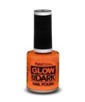 Feest glow in the dark nagellak neon oranje