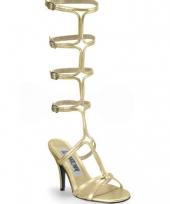 Feest gouden romeinse laarzen met hak
