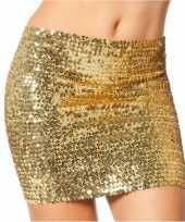 Feest gouden top rok met pailletten