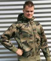 Feest groen camouflage vest