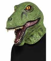 Feest groen dinosaurus masker voor volwassenen