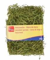 Feest groen kleur houtwol 20 gram vulmateriaal vulling