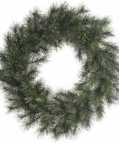 Feest groene kerstkrans 50 cm malmo voor de deur poort