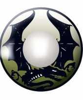 Feest groene lenzen met een zwarte draak