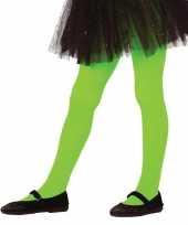 Feest groene panty 15 denier voor meisjes