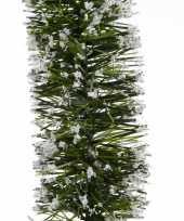 Feest groene sneeuw kerstslinger 7 x 270 cm kerstboom versieringen