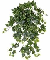 Feest groene witte hedera helix klimop kunstplant 65 cm voor buiten