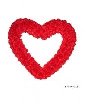 Feest groot decoratie hart 70 cm rood