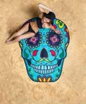 Feest grote handdoek day of the dead skull 150 cm
