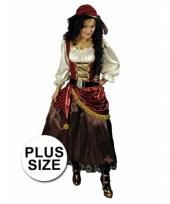 Feest grote maat carnavalskleding piratenjurk