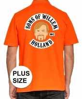 Feest grote maten koningsdag poloshirt sons of willem oranje heren