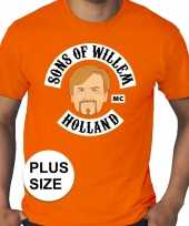 Feest grote maten sons of willem oranje shirt heren