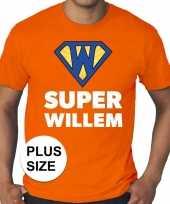 Feest grote maten super willem oranje shirt heren