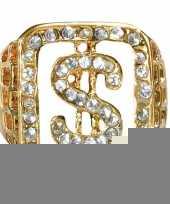 Feest grote ring goud met diamanten