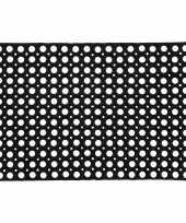 Feest grote rubberen deurmat buitenmat 50 x 80 cm