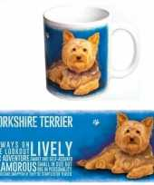 Feest grote theemok yorkshire terrier