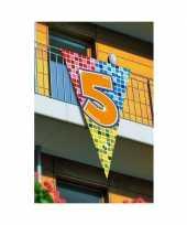 Feest grote vlag in puntvorm 5 jaar