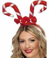 Feest haarband met kerst zuurstokken