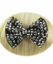 Feest haarklem strikje zwart