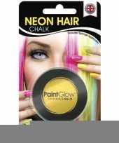 Feest haarkrijtjes uv geel