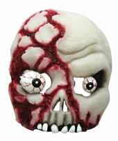 Feest half schedel masker met ogen
