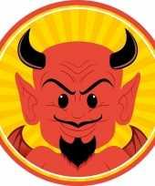 Feest halloween 10x halloween onderzetters duivel