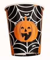 Feest halloween 10x halloween pompoen bekers