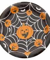 Feest halloween 10x halloween pompoen bordjes