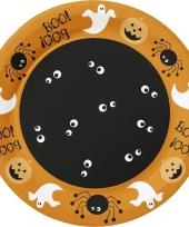Feest halloween 10x oranje halloween borden met print 22 cm