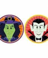 Feest halloween 20x halloween onderzetters heks en vampier dracula