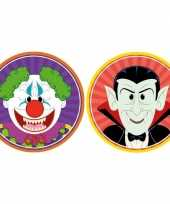 Feest halloween 20x halloween onderzetters horror clown en vampier dracula