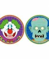 Feest halloween 20x halloween onderzetters horror clown en zombie