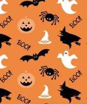 Feest halloween 20x oranje halloween servetten met print 33 x 33 cm