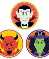 Feest halloween 30x halloween onderzetters duivel heks vampier