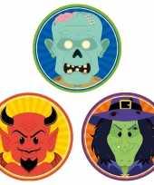 Feest halloween 30x halloween onderzetters duivel heks zombie